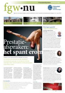Cover special 'Prestatie-afspreken'